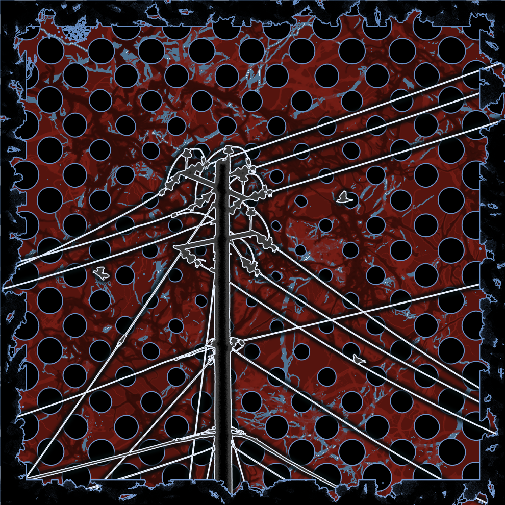Telephone Pole on a abstract background.